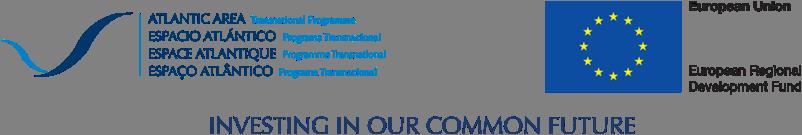 Logo de la commision européenne - espace atlantique - programme transnational